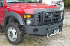 image of replacement bumper with grille guard and winch